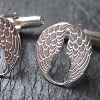 Lisbee Stainton 'Wings' Sterling Silver Cufflinks