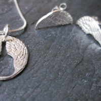 Lisbee Stainton 'Wings' Sterling Silver SMALL pendant necklace