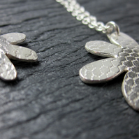 LARGE Sterling silver Flower Pendant Necklace