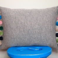 Pom Pom Cushion Cover Made With British Lambswool