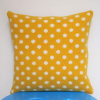 Golden Yellow Spot Cushion