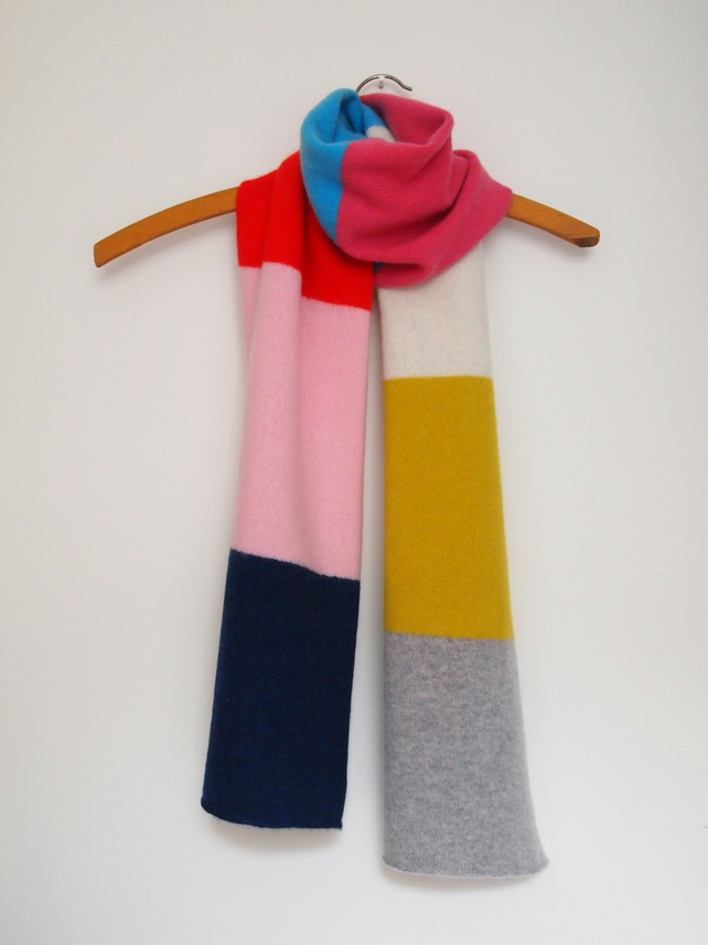 Soft Lambswool Block Colour Scarf