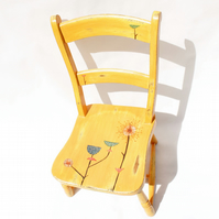Yellow Lucienne Day Hand Painted Kids Chair