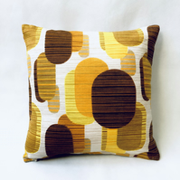 Vintage Reversible Abstract and Floral Cushion
