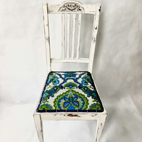 Antique chair with Paisley Pattern Seat