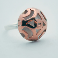 Japanese Illusion Copper and Silver ring
