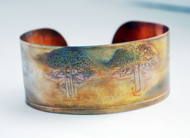 Medium copper tree cuff 20% off valentine's sale was 16 pounds