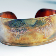 Medium copper tree cuff