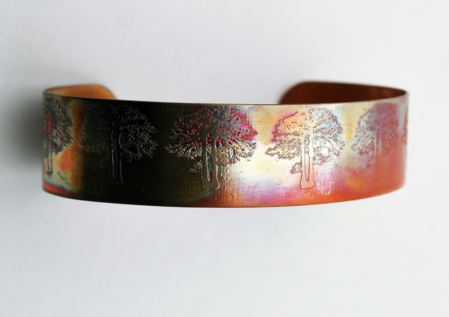 slim copper tree cuff