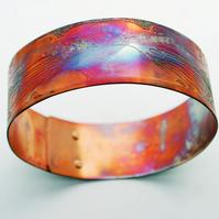 Copper Raven Crow Bracelet bangle