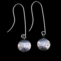 sterling silver crow earrings