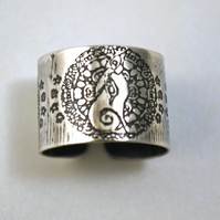 Sterling silver Moongazing Hare Ring