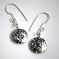 sterling silver magpie capsule drop earrings