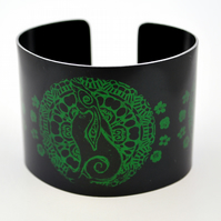 black and green Moongazing hare cuff