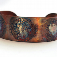 Medium copper Moongazing Hare cuff