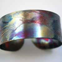 Medium copper raven crow cuff