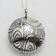 Sterling Silver Pattern Scent Locket