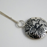 Sterling Silver Magpie pendant, small
