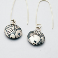 Classic Silver Capsule Drop Earrings