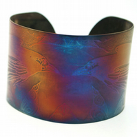 Surgical steel Raven Cuff, multicolured finish, large