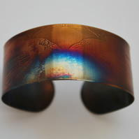 Surgical steel Raven Cuff, multicolured finish, medium