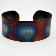 Surgical steel Moongazing Hare Cuff, multicolured finish, medium