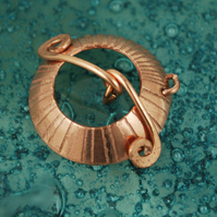 Japanese sunburst copper toggle clasp - centre hole - Handmade