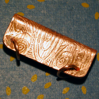 Large Copper Pendant Bail - double ring
