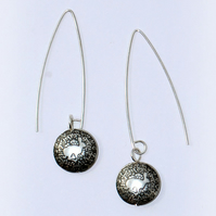 Silver 'Hare' Capsule Drop Earrings
