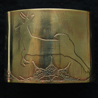 Large Brass Stag Cuff - large size