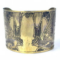Large Brass rook Cuff - large size