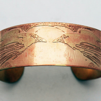 Brass raven Cuff - medium size