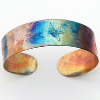 slim copper bird on wing cuff