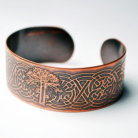 Celtic copper Tree Cuff Bracelet