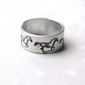 Horse Ring, Aluminium Adjustable Horse Ring,
