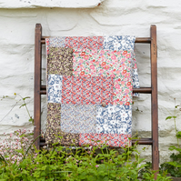 Summery Cotton Double Bed Sized Patchwork Quilts stitched with British fabrics