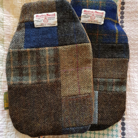 Harris Tweed Patchwork Hot Water Bottle Cover One Of A Kind & 100% British Made