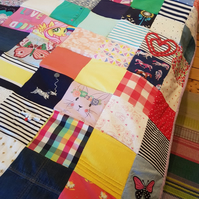 One of a Kind Unique Bespoke Patchwork Quilt Commission Stitched just for You!