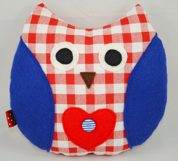 Jubilee Owl Cushion - Elizabeth - READY TO SHIP