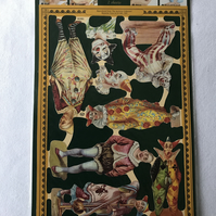 Clowns - Decoupage card making embellishments