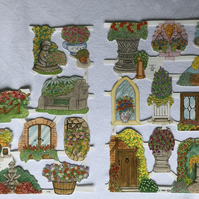 Garden ornament scrapbooking papers