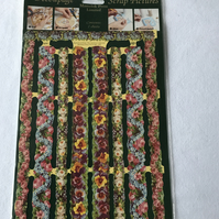 Flower border decoupage craft papers