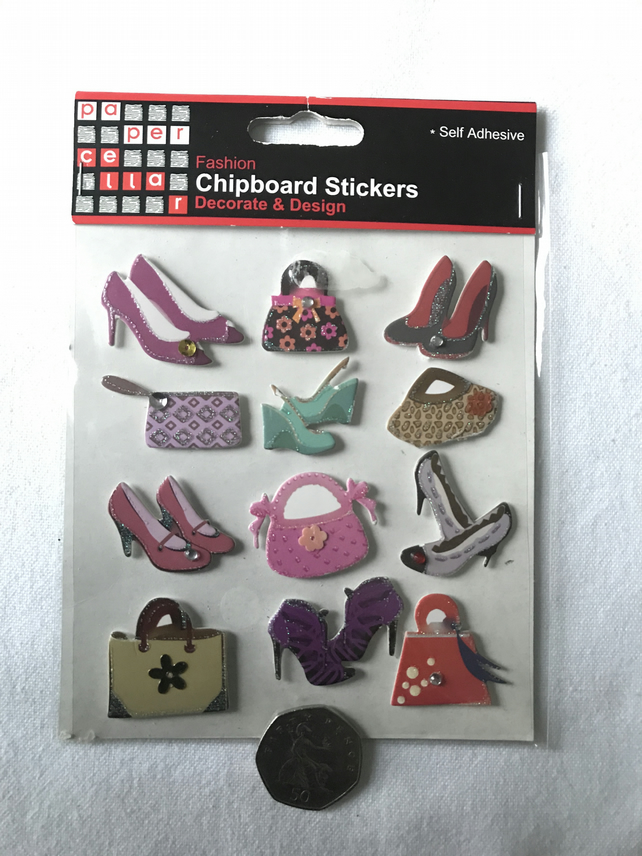 Handbag and Shoes cardmaking toppers
