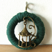Bird Pendant - Green