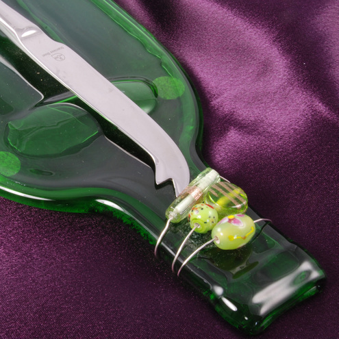 recycled champagne bottle cheese board