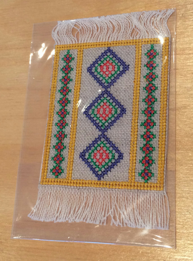 1:12 scale Cross Stitch Mat for the dolls house.