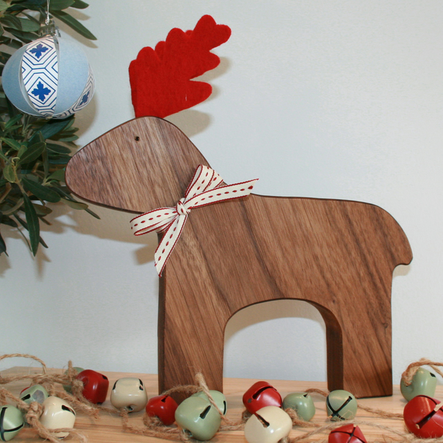 Wooden Reindeer - Folksy Exclusive