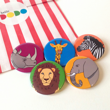 Zoo Animals Badge Set