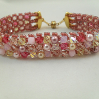 Perfectly Pink Swarovski Crystal Band