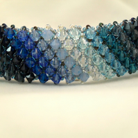 Band of Blues Deluxe Ombre Swarovski Crystal Bracelet